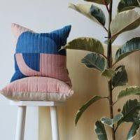coussin teinture végétale housse linge de maison