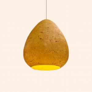 lampe papier maché recyclé recyclable écologique suspension luminaire
