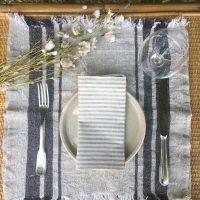 set de table décoration naturelle