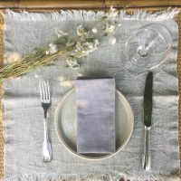 set de table kinfolk minimaliste lin lave made in belgique