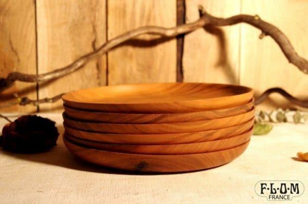 assiette en bois slow deco naturel