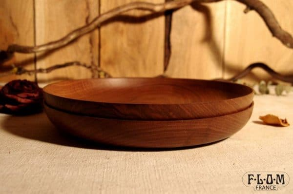 assiette en bois hypster deco vaisselle